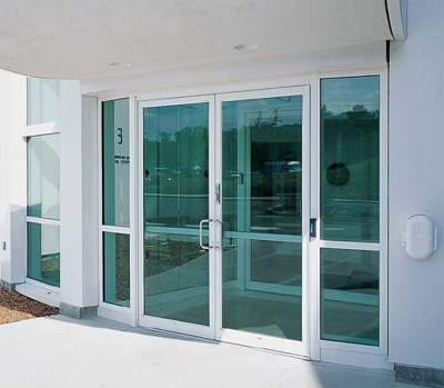 mercial Glass on aluminum sliding window